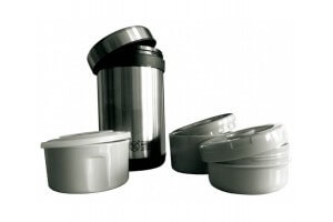 Lunch box ergonomique Keen Sport inox + 3 compartiments - 1.5L