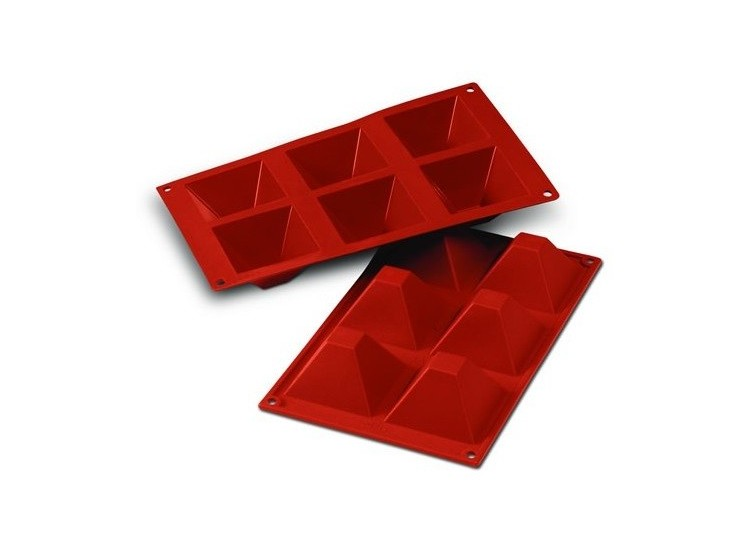 moule silicon flex silicone rouge 6 pyramides 7cm. Black Bedroom Furniture Sets. Home Design Ideas